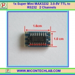 1x Super Mini MAX3232 3.0-5V TTL to RS232 module