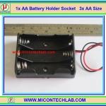 1x AA Battery Holder Socket 3x AA Size (กะบะถ่าน AA ขนาด 3 ก้อน)