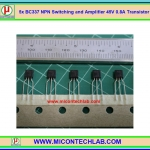 5x BC337 NPN Switching and Amplifier 45V 0.8A Transistor FAIRCHILD