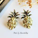 ต่างหู (ก้านเงินแท้ 925) Gem Pineapple Korea ER2213