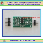 1x HX711 24-bit Analog to Digital Converter for Weigh Scale Load Cell Strain Gauge Module