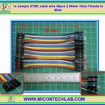 1x Jumper (F2M) cable wire 40pcs 10 cm 2.54mm Female to Male