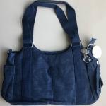 กระเป๋าถือ + สายสะพาย สีกรม