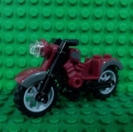 Dark Red Motorcycle Vintage