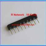 1x Resistor Network 10 Kohm 1/8W 5% R-Network 9 PIN Royal Ohm