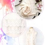 ผ้าคลุมไหล่ พร้อมกล่องของขวัญ รุ่น Delicated French Lace in Creme Brulee (Size M) ผ้าพันคองานดีเวอร์ งานเนี๊ยบ สุภาพเรียบร้อย สวยหรูดูแพงไปอีก ใช้ได้ในหลายโอกาสค่ะ เป็นผ้าลูกไม้ฝรั่งเศส สีขาวครีมล้วน คลุมสบ๊ายสบายค้า ต้องรีบจับจองกันแล้ว ผ้าพันคอ พร้อมกล่