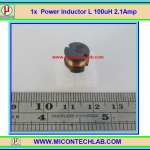1x Power Inductor L 100uH 2.1Amp