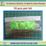 10x Resistor 500 Ohm 1/4 Watt 5% Cabon Resistor
