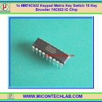 1x MM74C922 Keypad Matrix Key Switch 16 Key Encoder 74C922 IC Chip