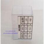 กล่องคัพเค้ก มาการอง 3.1 x 3.1 x 4.8 cm