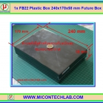 1x FB22 Plastic Box 240x170x58 mm Future Box