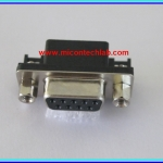 1x Female DB9 RS232 Connector Right Angle 9 Pins