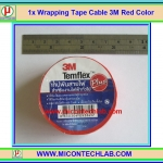 1x Wrapping Tape Cable 3M Red Color (เทปพันสายไฟยี่ห้อ 3M สีแดง)