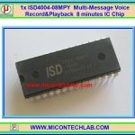 1x ISD4004-08MPY Multi-Message Voice Record & Playback 8 minutes ISD4004 IC Chip