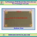 1x แผ่นพีซีบีแบบชุบตะกั่ว ขนาด 5.5x9.3 ซม. (Prototype PCB Board)
