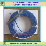 1x Cable Wire 2x0.5 SQ.MM Length 1 meter Bluecolor