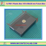 1x FB15 Plastic Box 107x158x35 mm Future Box