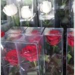 กล่อง-ใส่ดอกไม้ ขนาด 3 x 3 x 18 นิ้ว หรือ 7.6 x 7.6 x 45.7 cm (แบบ2ฝา-ติดกาว)