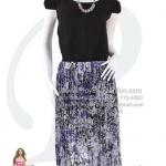 hd1772 - ชุดเดรส ชุดกระโปรง ทูโทนสำหรับสาวตัวเล็ก ตัวเสื้อผ้าซีฟองสีดำ ช่วงกระโปรงผ้าอัดพลีท พิมพ์ลายดอกม่วง ซับในทั้งตัว สวยๆน่ารักๆค่ะ