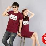 """เสื้อคู่ เสื้อคู่รัก ชุดคู่รัก เสื้อคู่รักเกาหลี เสื้อคู่แฟชั่น ลาย """"LONG LIVE LOVE"""" ADX009"""