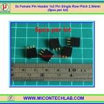 5x Female Pin Header 1x3 Pin Single Row Pitch 2.54mm (5pcs per lot)