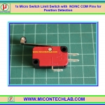 1x V-156-1C25 Micro Limit Switch with Roller SPDT NO NC Com Pins