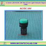 1x Green LED AC/DC 24V Size 22 mm Light Indicator Signal Lamp
