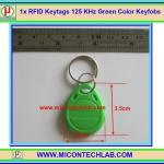 1x RFID Keytags 125 KHz Key tag Keyfobs Green Color (อาร์เอฟไอดีคีย์แทกสีเขียว)