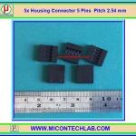 5x เฮาซิ่งคอนเน็คเตอร์ แบบ 5 ขา ระยะพิทช์ 2.54 มม. (Housing Connector)