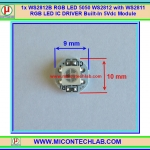 1x WS2812B RGB LED with WS2811 RGB LED IC DRIVER Built-In 5Vdc Module
