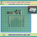 1x แผ่นอะคริลิครองบอร์ด Arduino UNO Leonardo (Acrylic Case)