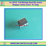 1x L9110H H-Bridge Dual DC motor Stepper motor drive DIP8 PINs IC Chip