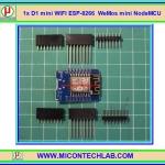 1x แผงวงจรวายฟาย D1 mini WIFI ESP-8266 WeMos mini NodeMCU