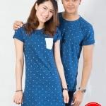 """เสื้อคู่ เสื้อคู่รัก ชุดคู่รัก เสื้อคู่รักเกาหลี เสื้อคู่แฟชั่น ลาย """"POLKA DOT"""" ADX013"""