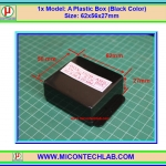1x Model: A Plastic Box Size: 62x56x27mm (Black Color)