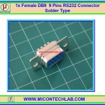 1x Female DB9 9 Pins RS232 Connector Solder Type