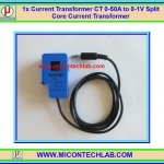 1x SCT-013-050 Current Transformer CT 0-50A to 0-1V Split Core Current Transformer