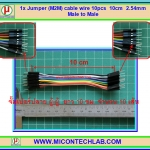 1x Jumper (M2M) cable wire 10pcs 10cm 2.54mm Male to Male