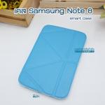 เคสหนัง Samsung note 8 Smart cover (Onjess) สีฟ้า