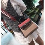 กระเป๋าถือ + สะพายข้าง HERMES mini style ครีม-แดง