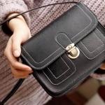 กระเป๋า สะพายข้าง ทรง vintage สีดำ