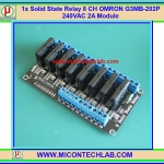 1x Solid State Relay OMRON SSR G3MB-202P 240V 2A 8 Channel Module