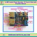1x MP3 Audio Player Decoder TF Card U Disk with Amplifier Module