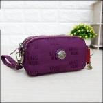 กระเป๋าคล้องมือ Lingky ผ้าทอ สีม่วงล้วน