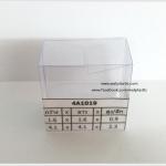 กล่องสบู่-ทรงจตุรัส ขนาด 4.1 x 4.1 x 2.3 cm
