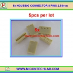 5x HOUSING CONNECTOR 8 PINS Pitch 2.54mm