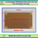 1x Prototype PCB IC87 Board Size 5.5 x 9.3 cm For Prototype Circuits