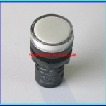 1x White LED AC/DC 12V Size 22 mm Light Indicator Signal Lamp