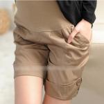 กางเกงขาสั้นคนท้อง มียางยืดบริเวณหน้าท้องโอบอุ้มท้อง