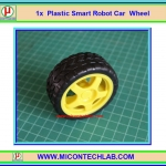 1x Plastic Smart Robot Car Wheel (ล้อรถ)